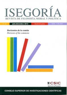 Isegoría. Revista de filosofía moral y política nº 49 (2013)