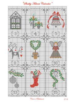(1) Gallery.ru / Shabby Advent Calendar - Shabby Advent Calendar - Marina-Melnik