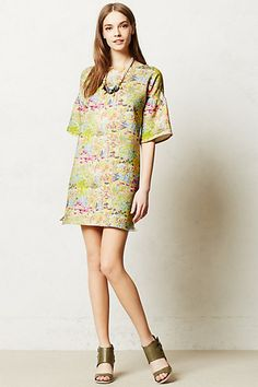 Adore the print on this shift dress- on sale now at Antropologie