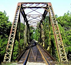 Railroad Trestle Roaring River Yadkin Valley Railroad Wilkes County NC by Bass Player Keith Hall, via Flickr