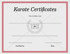 martial art certificate templates free - 1000 images about certificate on pinterest certificate