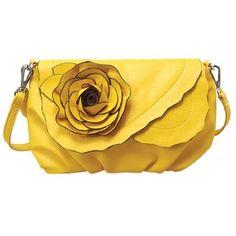 Mellow World Peony Cross-body Handbag (Yellow) - Price: $29.95
