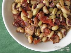 Slow-Cooked Fresh Black Eyed Peas and Tomaotes: make with tasso ham? serve with cornbread