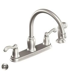 Moen CA87004SRS High-Arc Kitchen Faucet with Side Spray from the Traditional Collection, Spot Resist Stainless >>> Check out this great product. (This is an affiliate link) #KitchenFaucetsIdeas