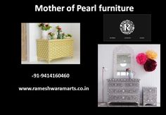 Mother of pearl furniture is design by Rameshwaram arts & Crafts. We are leading manufacturing furniture company in India. Furniture Companies, Arts And Crafts, Pearls, Luxury, Design, Gift Crafts, Beading, Art And Craft, Design Comics