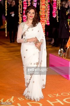 Actor Lillete Dubey at the London premier of 'The Second Best Exotic Marigold Hotel'
