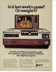 1978 VCR ... look how clunky the old VCR's look? Our neighbor's had one of the first ones of these, Marcie Fleischman