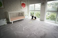 Modern Nursery with fab ABC Rug - Project Nursery