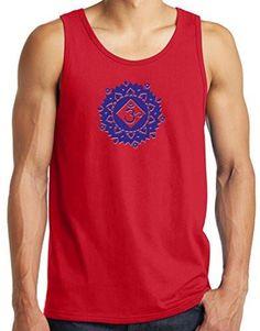 Yoga Clothing For You Mens Floral Sahasrara Tank Top Shirt