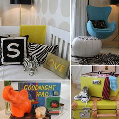 Chic in Chartreuse! Spencer's Color-Poppin' Nursery - www.lilsugar.com