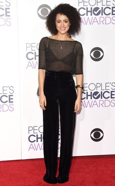 Nathalie Emmanuel from 2016 People's Choice Awards Red Carpet Arrivals  The Game of Thrones star hopes to pick up an award for Favorite TV Show.