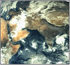 First image of Earth by Mars Orbiter Mission. On November from a kilometers above Earth, the Mars Orbiter Mission took this photo of the Indian subcontinent. Mars Orbiter Mission, Mars Probe, Mission To Mars, First Picture Of Earth, Advantages Of Solar Energy, Earth Photos, Space And Astronomy, Science
