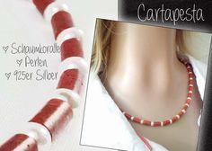*SCHAUMKORALLE* Kette *  Perlen * 925er von Cartapesta auf DaWanda.com
