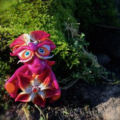 Polymer Clay Flower Dragon 'Lily' - Limited Edition Handmade Collectible by KatersAcres on Etsy
