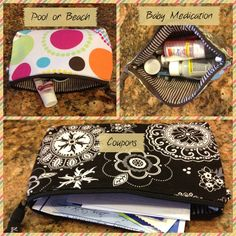 The many uses of the Thirty-One mini zipper pouch!  When you spend $31 you get one of these for $5 in July!  #thirtyone