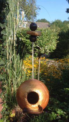 Keramiek vogelhuisje / ceramic birdhouse
