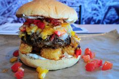 fattributes:  Jalapeno Popper Stuffed Burger- Pig BBQ Joint (by Random Shooter)