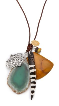 Inspiration :: Chan Luu Multi Charm Necklace - interesting knot.  #handmade #jewelry