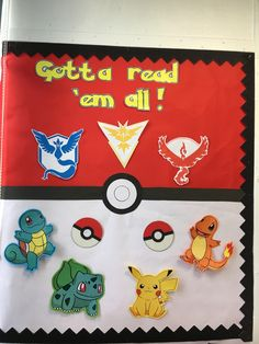 Use your children's interest in Pokemon to create an exciting reading area. Could you use this idea as inspiration for your own classroom reading area? Superhero Classroom, Classroom Board, Future Classroom, Bulletin Boards, School Library Displays, Classroom Displays, Classroom Themes, Instagram Logo, Classroom Reading Area