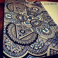 My father in law gave me a geometrigraph set for my birthday...it would come in handy for something like this. Zentangle