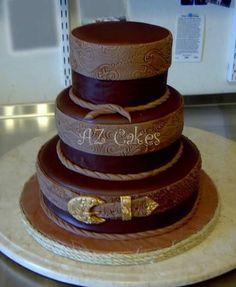 western wedding cake weddings-wiki