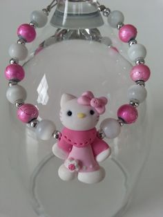 Here is an unique gift for little girl ( 3 years old and over ) A bracelet made with a kitty kitten in fimo paste, cat eye beads and glass beads. Lenght : 6 inches ************ My jewelry are made t Gifts For Kids, Gifts For Her, Kids Jewelry, Jewelry Ideas, Aluminum Wire Jewelry, Valentine Day Gifts, Valentines, Little Girl Gifts, Polymer Clay Jewelry