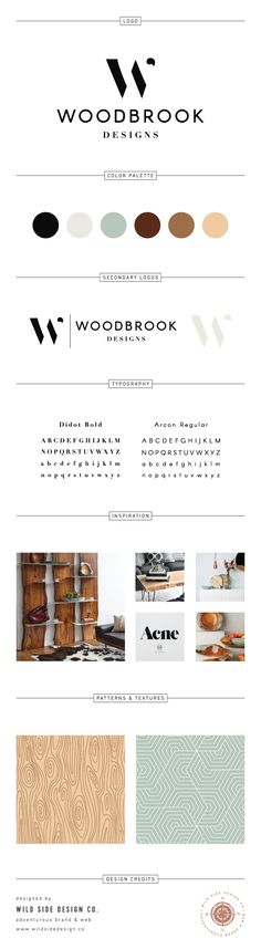 Brand Launch :: Brand Style Board :: Contemporary Interior Decor Branding :: Woodbrook Designs Brand Design :: #branding www.wildsidedesign.co