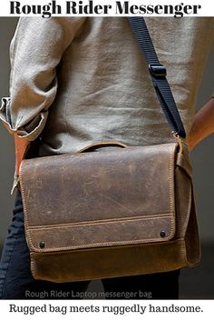 Rough Rider Leather Messenger   Made in USA   http://www.sfbags.com/products/rough-rider-messenger-bag