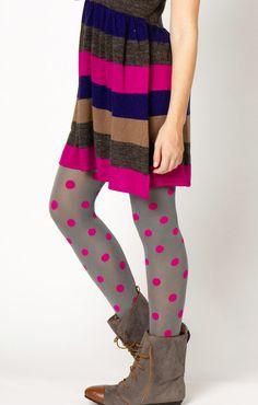 stripes + polka dots