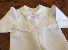 Christening Outfit One Piece Size 0000 Long Sleeved New Without Tags Baptism