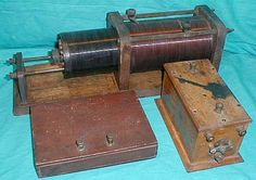 "In 1923, John Ridgway was licensed as 3ON. He was only 11 at the time but he was able to construct quite a nice Loose Coupler using the oak boards from a discarded bed frame. The spark coil is a 1"" Commercial and the sending condenser is homebrew using glass and foil. Spark was certainly on the way out by 1923 but John was able to make a few contacts and hone his ham skills."