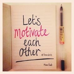 Note to Self: In a strong friend/relationship, both people motivate each other to go further in life! My Notebook, Note To Self, Challenges, Notes, Strong, Relationship, Writing, Motivation, People