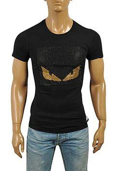 Mens Designer Clothes | FENDI Men's T-Shirt In Black #15