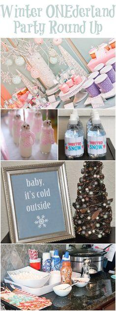 Round up of the best {Winter ONEderland} first birthday parties!