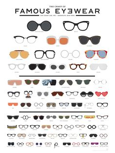 Eyewear icons. @Rivet & Sway this is right up your alley!