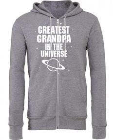 greatest grandpa in the universe white print Zipper Hoodie