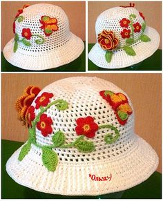 29 May 2011 - - Picasa Web Albums Crochet Baby Clothes, Crochet Baby Hats, Knitted Dolls, Knitted Hats, Crochet Cap, Kids Hats, Summer Hats, Crochet Patterns, Knitting
