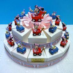 """Torta Bomboniera con Minnie e Paperina Disney. Torte Bomboniere realizzate da """"Ore Liete - La Bomboniera Italiana"""""""