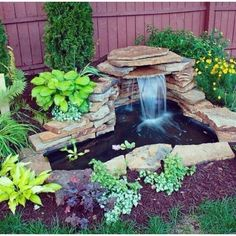 50 Diy Garden Pond Waterfall Ideas is part of Fountains backyard - Whether you choose a traditional sunken pool to enhance your garden, or want to relax to the gentle sound of […] Diy Patio, Backyard Patio, Patio Ideas, Patio Pond, Diy Garden Fountains, Diy Fountain, Backyard Water Fountains, Water Fountain Design, Rock Fountain