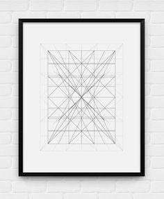 """Geometric Art - """"Mess"""" - Printable Poster - Digital Art, Download and Print JPG"""