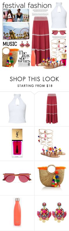 """Fashion Festival"" by conch-lady ❤ liked on Polyvore featuring Miss Selfridge, Monsoon, Yves Saint Laurent, Elina Linardaki, Le Specs, JADEtribe, Ranjana Khan, gladiatorsandals and Fashionfestival"