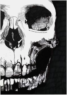 "Skull ""Hell is empty and all the devils are here"""