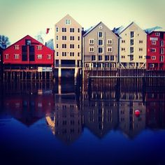 Seahouses in Trondheim Instagramuser: didrich #travel #trondheim #norway