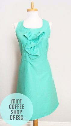 Mint Coffee Date dress made with a free pattern!