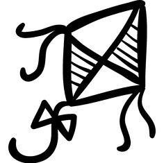Kite hand drawn toy logo