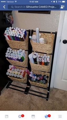 DIY Craft Room Organization Ideas for Small Spaces - craft room storage - Craft Room Storage, Craft Organization, Vinyl Storage, Storage Ideas, Storage Spaces, Space Crafts, Home Crafts, Craft Space, Vinyl Crafts