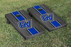 Gray Onyx Grand Valley State Lakers Varsity Stripe Cornhole Game