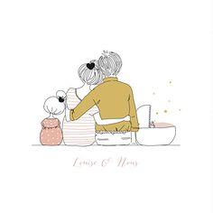 Faire-part de naissance Lovely family 2 enfants rv filles