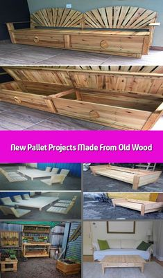 Here come the new pallet projects made from old wood which are amazingly adorable. These new pallet projects aimto boost the elegance of your home. Trendy Furniture, Sofa Furniture, Pallet Furniture, Furniture Ideas, Pallet Sofa, Pallet Tv, Pallet Wall Decor, Old Wood, Quality Time