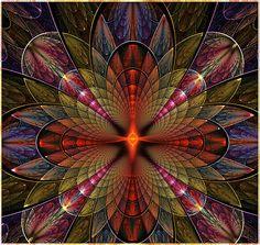 Mandala - Firefly Orchid by viennablue